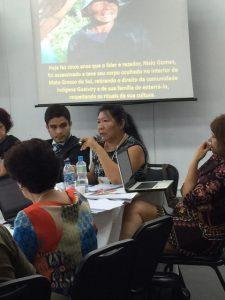 Advogada Joenia Wapichana coordena a roda de conversa