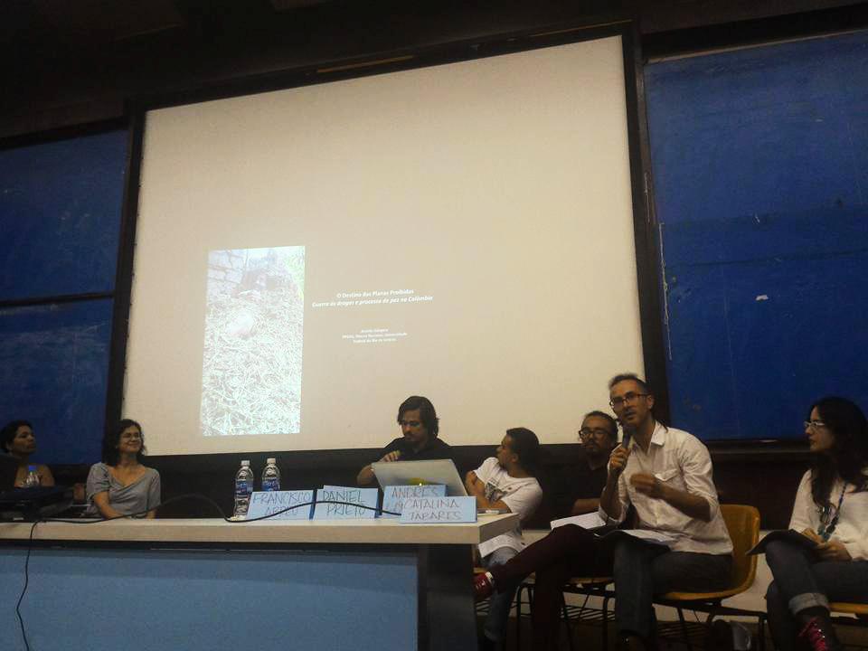 Especialistas colombianos en las temáticas de género, drogas, tierras