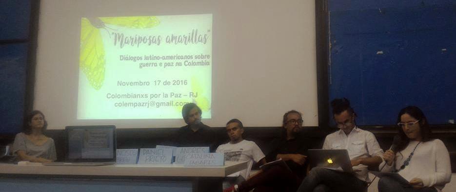 Primeira mesa apresentou e contextualizou o processo de paz na Colômbia, com múltiplos focos.