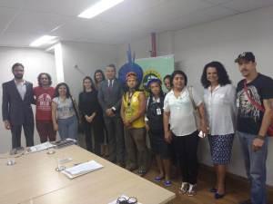 Reunião de Movimentos Populares e RENAP com o Defensor Público Geral da DPE/MG Gério Patrocínio Andrade, dia 13/9/2018. Foto: Larissa Pirchner.